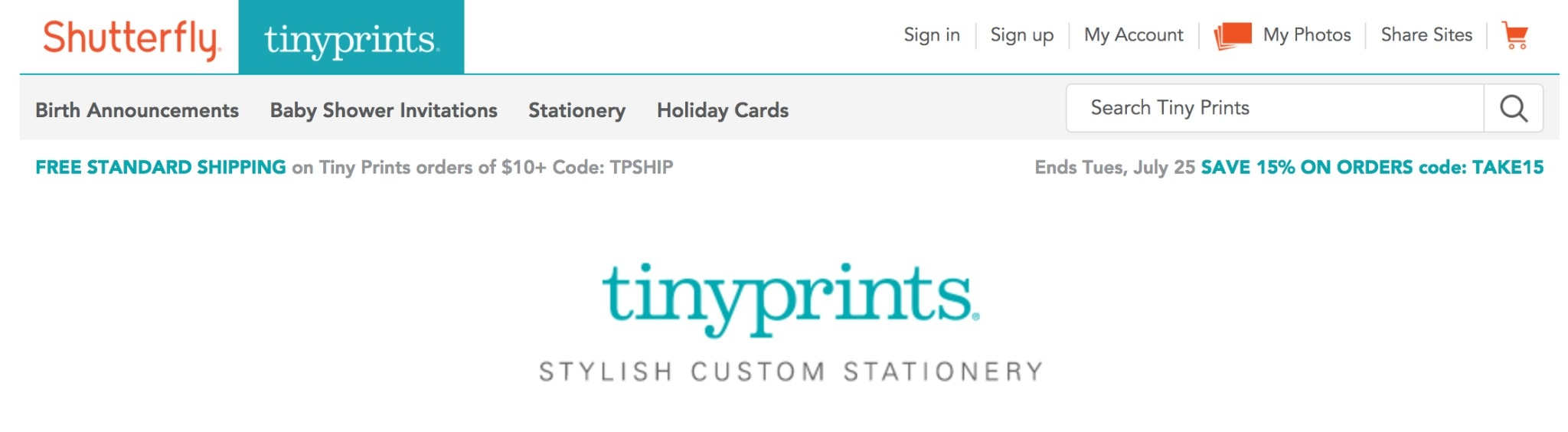 tiny prints free shipping code new deals
