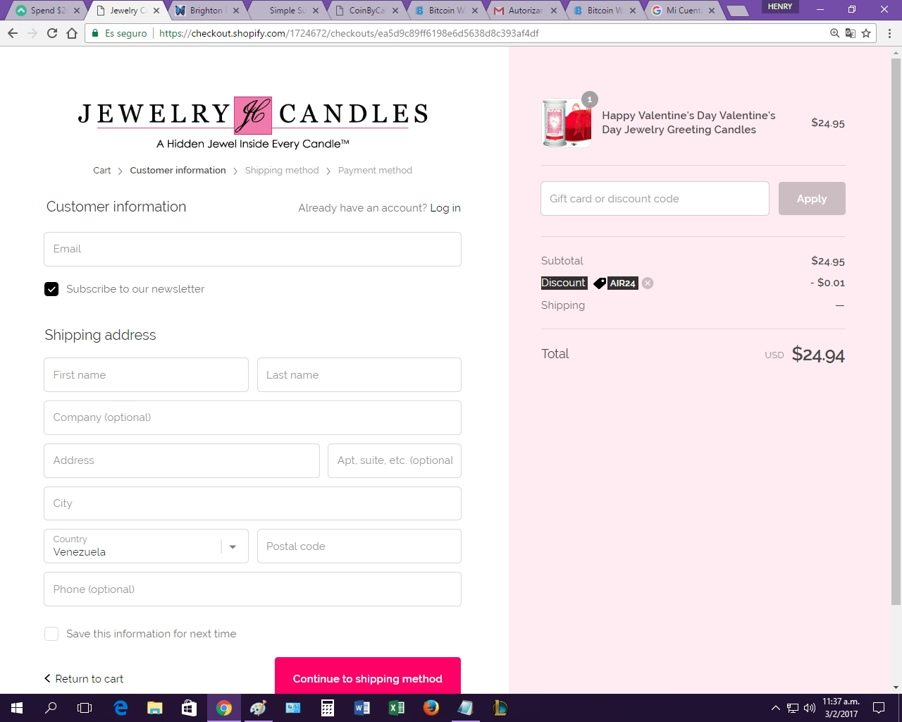 30 jewelry candles coupon code 2017 all feb 2017