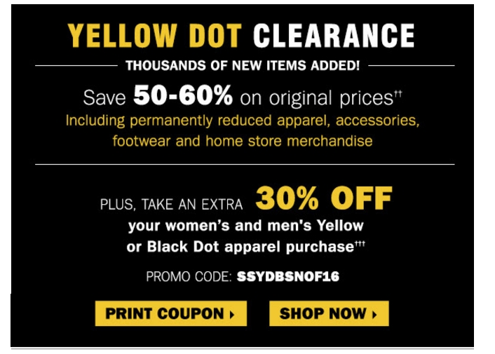 picture about Bon Ton Coupon Printable identify Carsons yellow dot discount coupons / Jct600 finance discounts