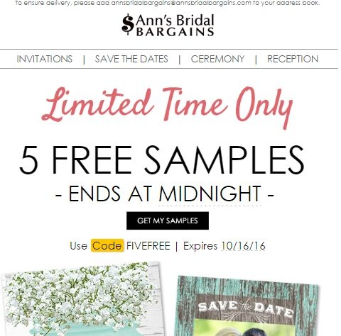Ann's bridal bargains coupon discount codes