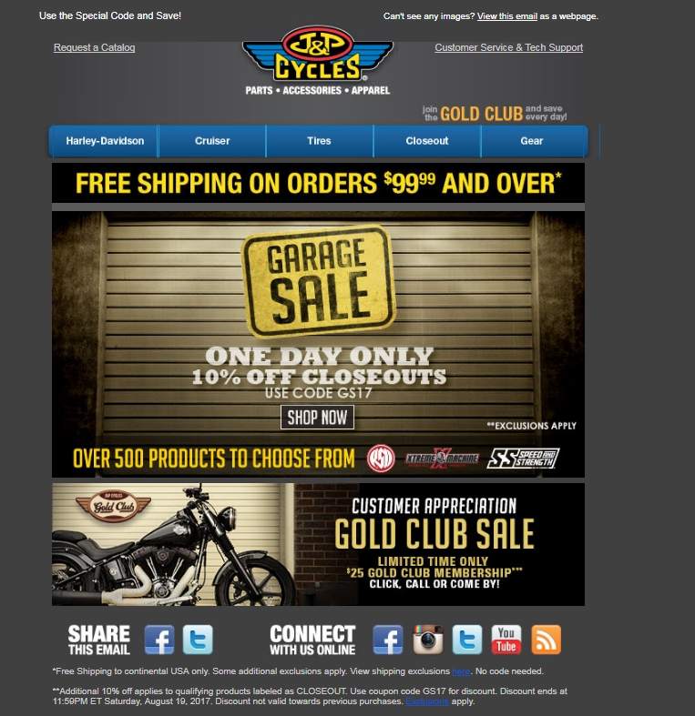 J&p cycles discount coupons