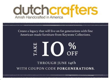 30% f DutchCrafters Coupon Code