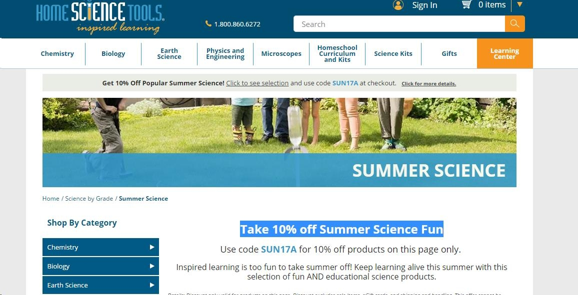 10% Off Home Science Tools Coupon Code