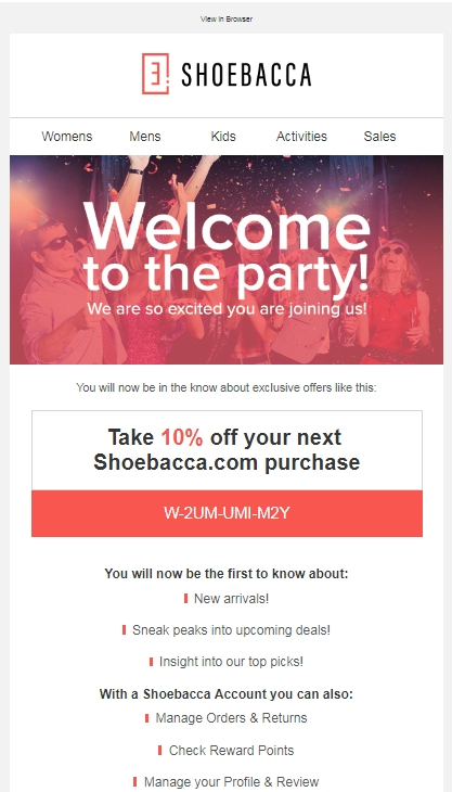 Complete list of all SHOEBACCA Coupons for December guaranteed! Take 10% off Your Order at SHOEBACCA, 50% off Women's Eddie Bauer Outerwear at SHOEBACCA, Get 30% off Select North Face Styles with this Promo Code at SHOEBACCA.