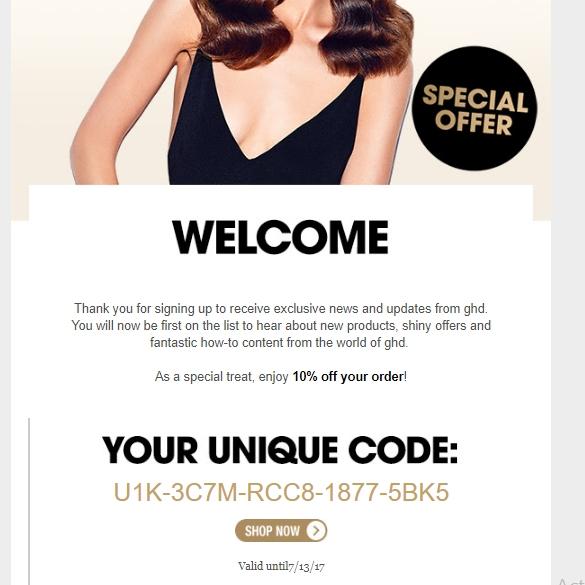 Ghd coupon code