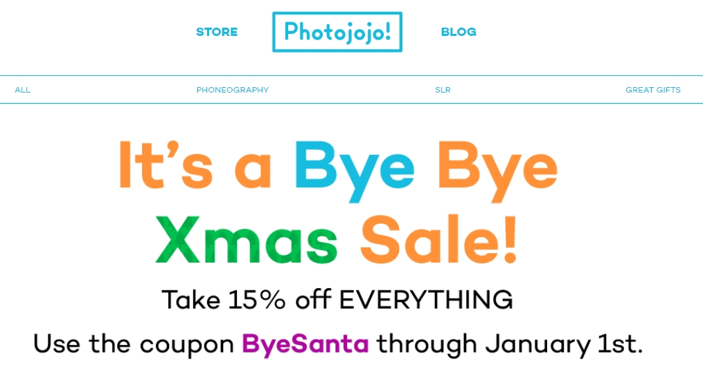 Save up to $10 with 20 Photojojo coupons, promo codes or sales for December Today's top discount: 10% off your first order when you sign up for an email.