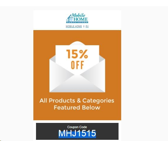 Coupon code for mobile home parts store