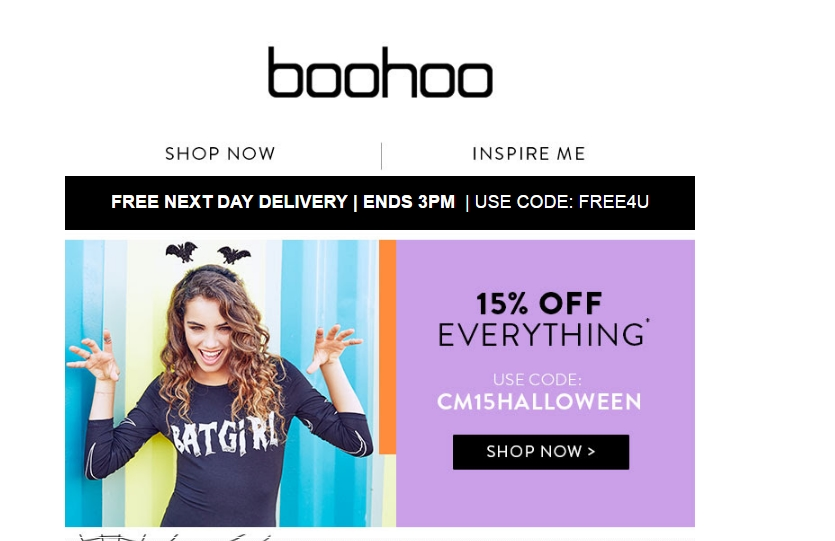 Boohoo website coupons