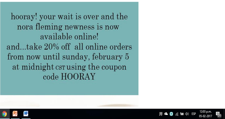 Nora fleming coupon code