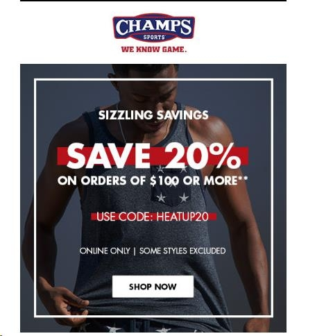 Champs sports coupon code