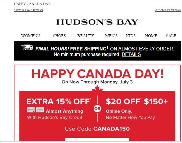 7 verified Hudsons Bay coupons and promo codes as of Dec 2. Popular now: Up to 60% Off Women's Sale Shoes. The Bay Coupons & Promo Codes. 7 verified offers for December, Coupon Codes / Department Stores Duluth Trading Company Coupon. PLNDR Codes. Street Moda Coupon. Masseys Coupons. Urban Excess Discount Code%(13).