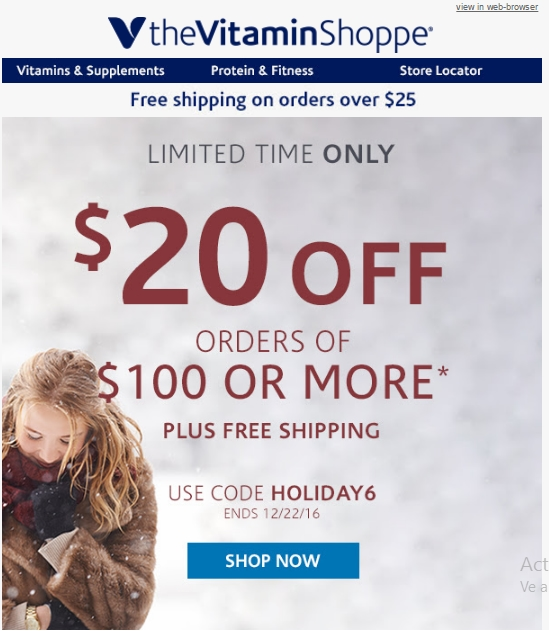picture about Vitamin Shoppe Printable Coupon named 20 off vitamin shoppe - 2 12 months courting anniversary reward