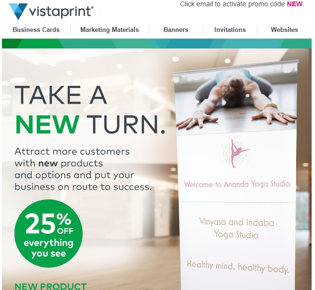 Vistaprint.com coupon code
