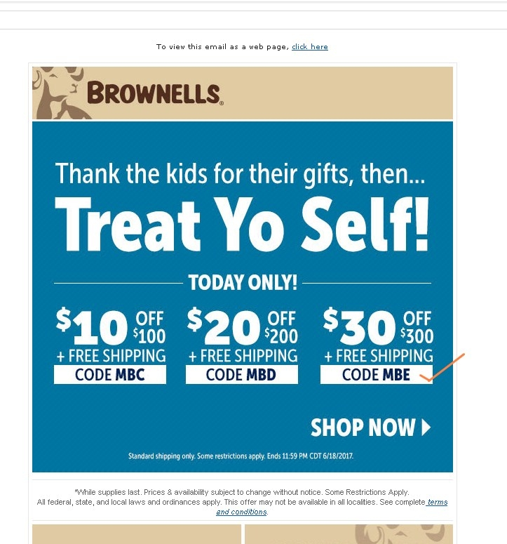 Save up to $10 with 38 Brownells coupons, promo codes or sales for December Today's top discount: $10 Off your order + Free Shipping on your Order of $99 or More.