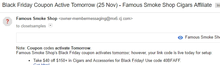 Famous smoke coupon code