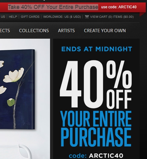 Great big canvas coupon code