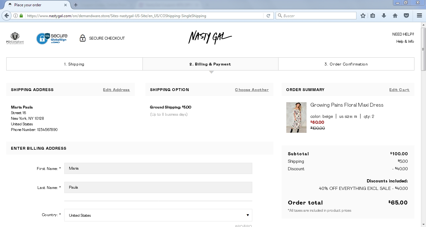 NASTY GAL COUPON CODE