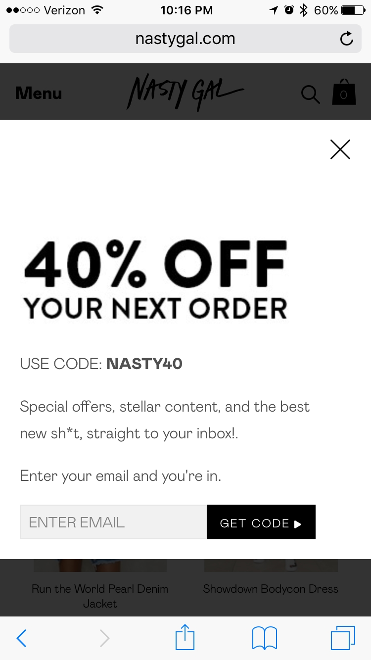 Today's top Nasty Gal promo code: 55% Off Sitewide For Students. Get 50 Nasty Gal promo codes and coupons for December