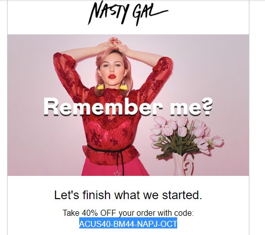 Nasty Gal Return Policy. Nasty Gal accepts returns of unused items that still have their original tags. You must return your items within 28 days of the delivery date. How to Redeem a Nasty Gal Coupon Code. To redeem a Nasty Gal coupon code, start by shopping the retailer's selection of chic clothes and fashion-forward accessories.