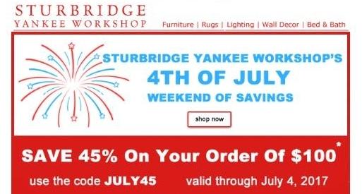 15 off sturbridge yankee workshop coupon code 2017 for Sturbridge yankee workshop