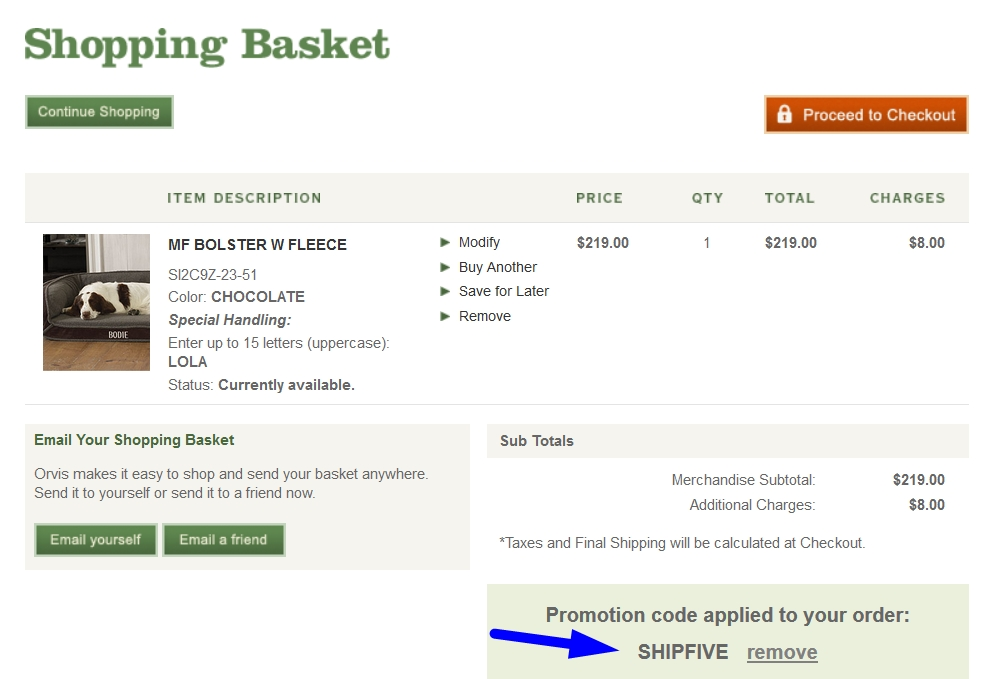 Orvis discount coupons free shipping