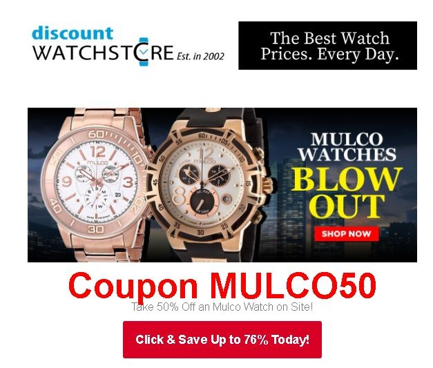 Discount watch store coupon