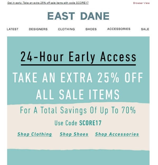 East dane coupon code