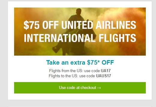 United airlines coupon codes 2019