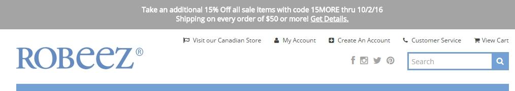 Robeez coupon code
