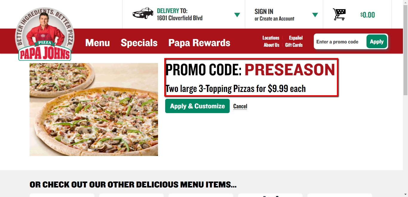 75% Off Papa John's Coupon Code | Papa John's 2018 Codes ...
