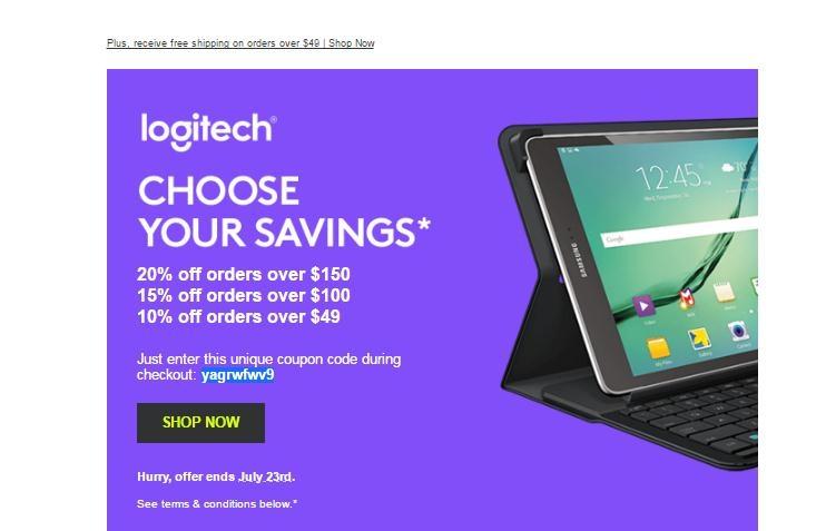 Logitech coupon code