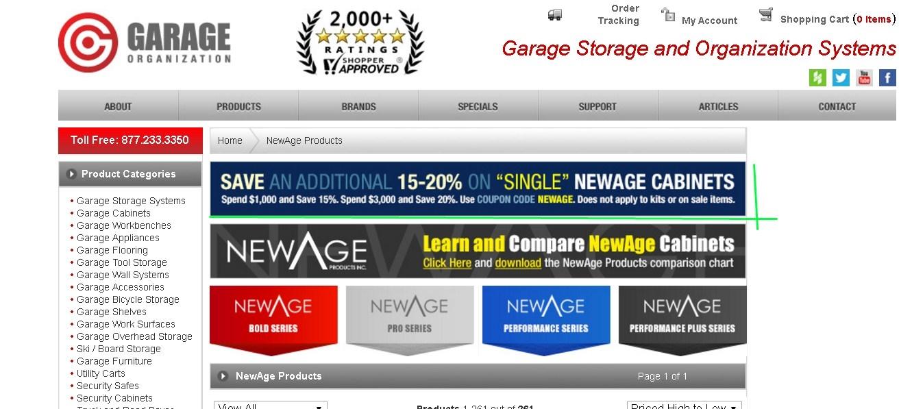 Expired Garage Organization Coupons
