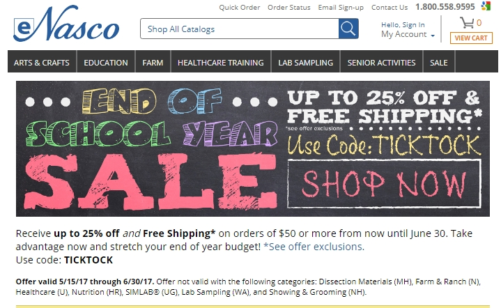 Discounts average $12 off with a eNasco promo code or coupon. 41 eNasco coupons now on RetailMeNot.