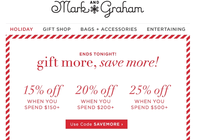 Mark and graham coupon code
