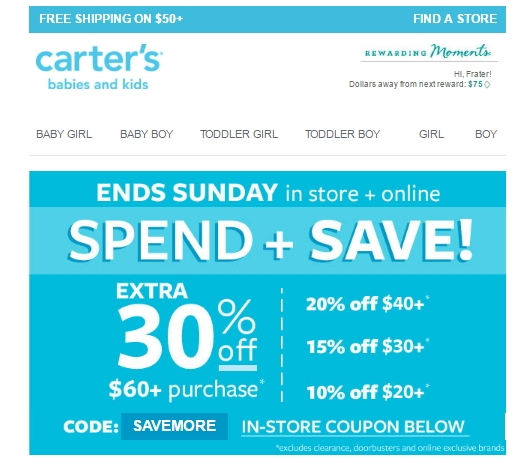 photo about Carters Printable Coupons known as Carters coupon code 30 off / Coupon plymouth mn