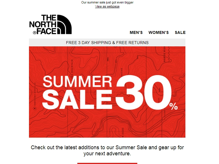 Shopping Tips for The North Face: 1. The North Face will replace or repair any product you buy if it is damaged or shows a manufacturing defect upon receipt. 2. Keep your receipt so you can return your purchases within 60 days of the order date. 3. The North Face coupon .
