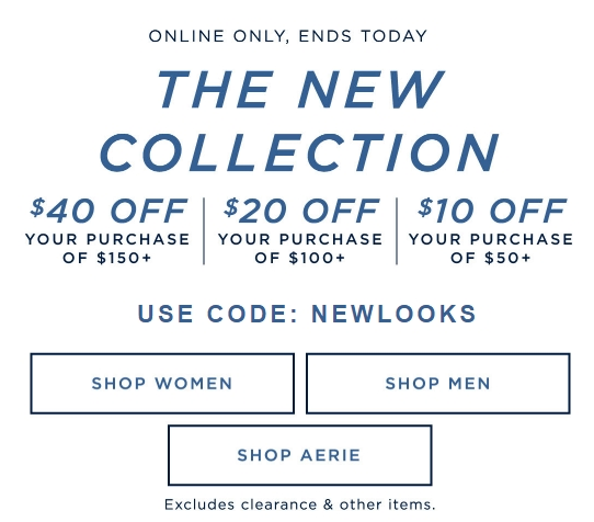 graphic about American Eagle Coupons Printable named 40 per cent off coupon for american eagle - 6 02 discount codes