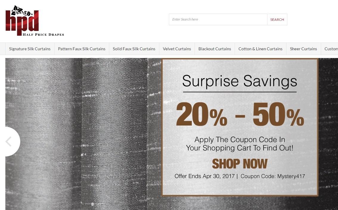 40 Off Half Price Drapes Coupon Code 2017 Screenshot Verified By Dealspotr