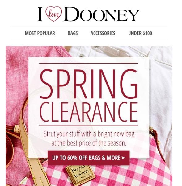 I Love Dooney Promotional Code