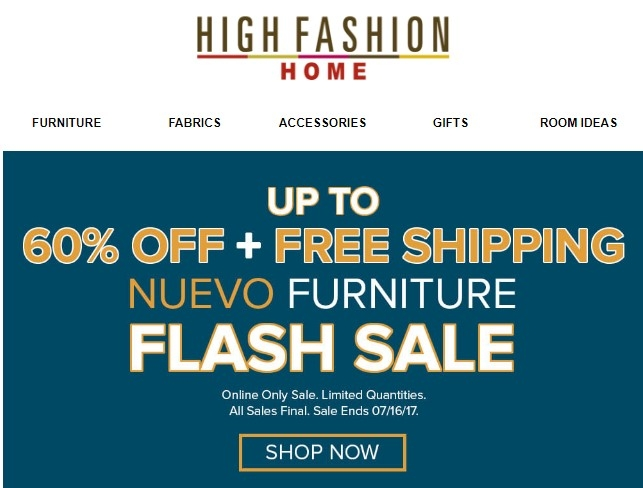 60 Off High Fashion Home Coupon Code 2017 Promo Code