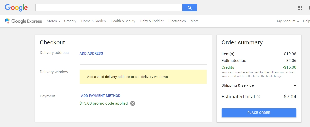 Coupon google express