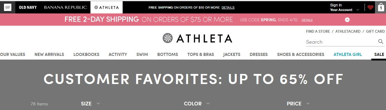 Discount coupon for athleta