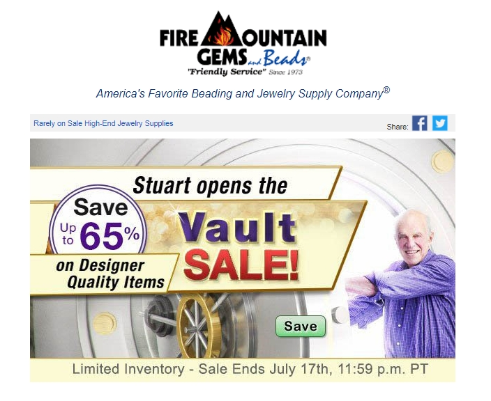 Discount coupon fire mountain gems