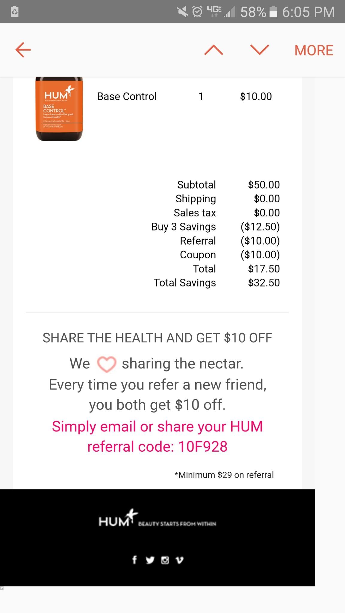 Hum coupon code
