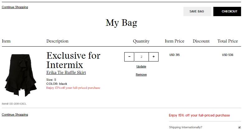 Intermix coupon code