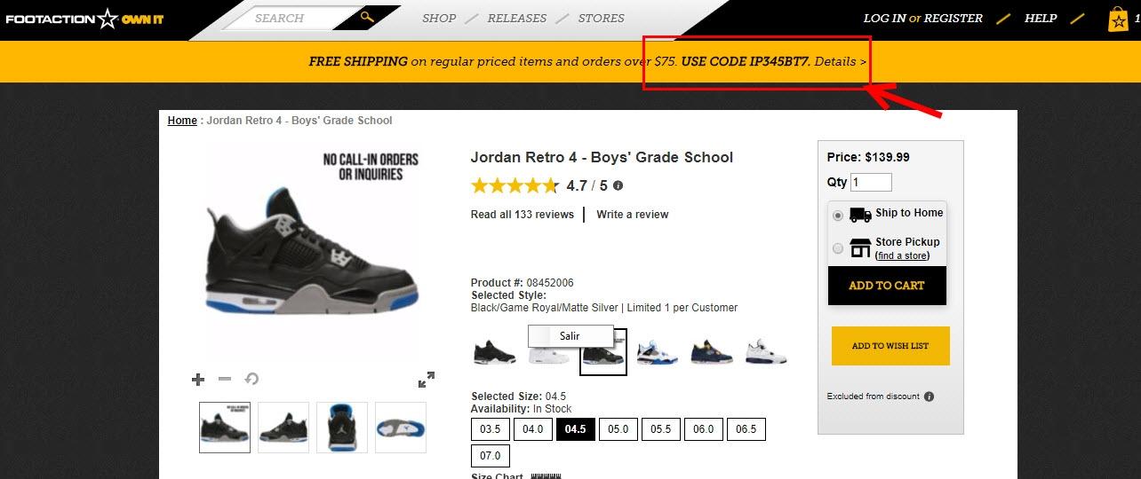 Footaction promo codes / Online Discount