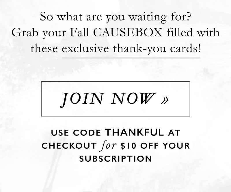 Causebox coupon code