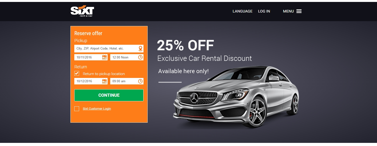 Up to 10 off Sixt Coupon Promo Codes July 2018