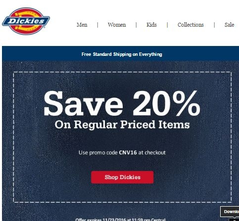 Dickies coupon code