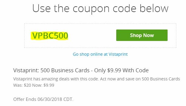 Vistaprint coupon code 50 off